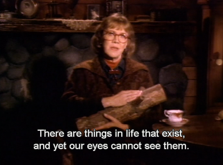 """✒ """"There are things in life that exist and yet our eyes cannot see them"""" the log lady - Twin Peaks - David #Lynch"""