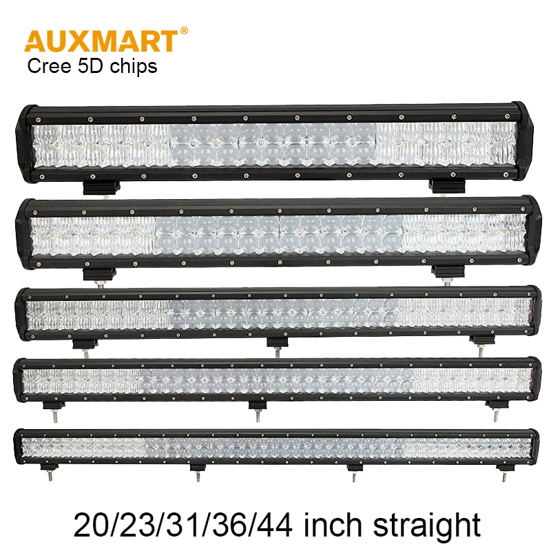 80.00$  Watch here - http://ali0cp.worldwells.pw/go.php?t=32725178347 - Auxmart 5D 20/23/31/36/44inch LED Light Bar combo beam Offroad Bar Light For camper trailer pickup wagon 4x4 4WD SUV ATV 12V 24V 80.00$