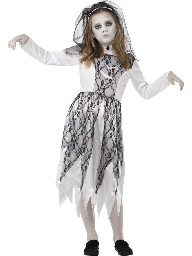 Ghost Dead Corpse Bride Girls Childs Kids Halloween Fancy Dress Costume 4-12 #Ad , #Aff, #Bride#Girls#Childs #deguisementfantomeenfant