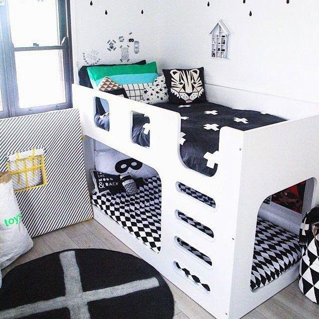 Chambre d 39 enfant lit double room for two kids for Chambre 8m2 lit double