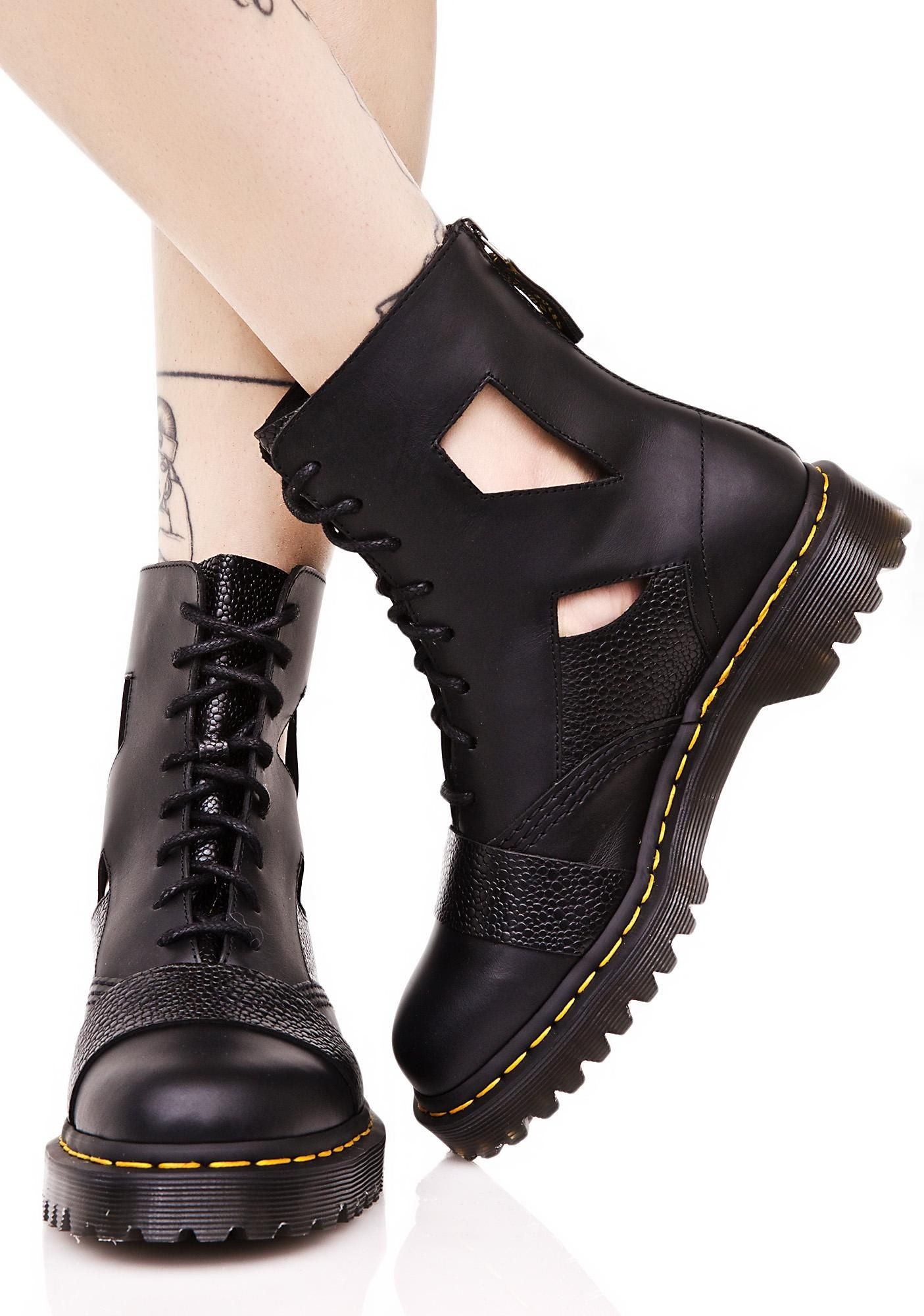 ab87f7d51bb Katrina Cut Out 8 Eye Boot | Wear | Boots, Shoes, Combat boots