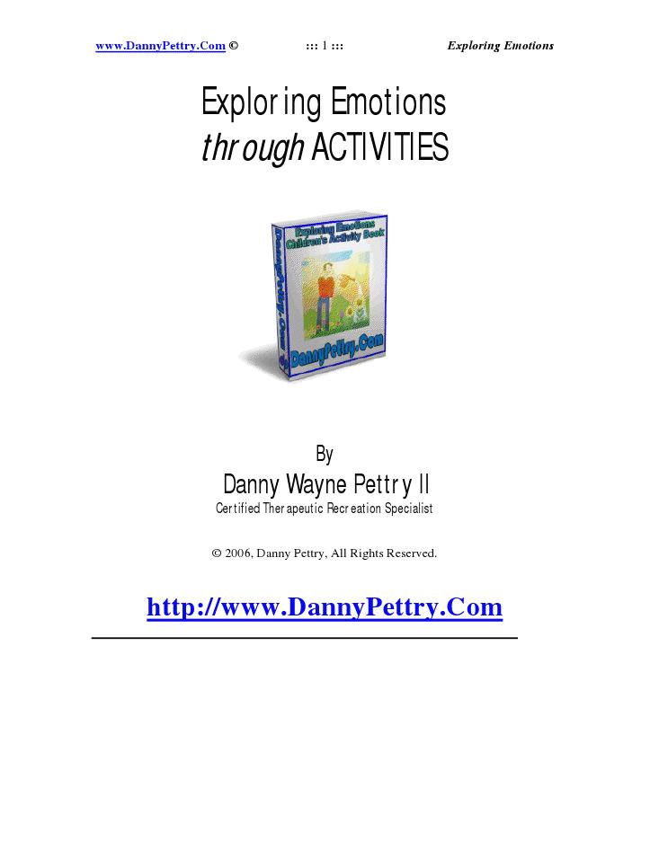 Exploring emotions through activities ebook_emotions pdf | Child
