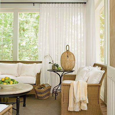 Curtains Ideas curtains for screened in porch : 1000+ images about Condo Deck on Pinterest | Curtain rods, Mesh ...