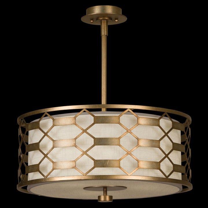 Check out the Fine Art L&s Allegretto 3 Light Pendant in Burnished Gold Leaf & 787540-2GU   Fine Art Lamps   Linden Lighting   Pinterest   Lights ... azcodes.com