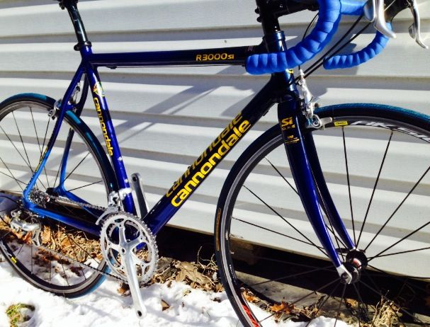 Corey's custom 2001 Cannondale R3000Si  CAAD5 frame, Shimano Dura