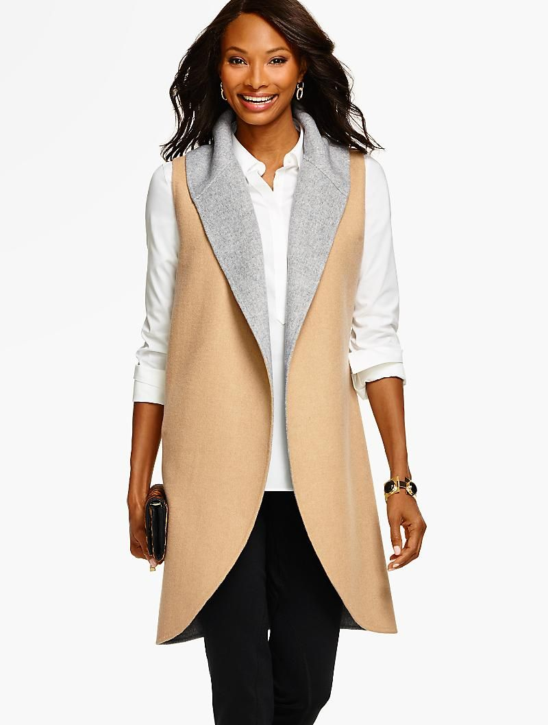 Shawl-Collar Coat Vest - Talbots