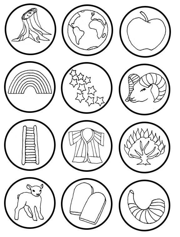 Small Round Jesse Tree Symbols Printable
