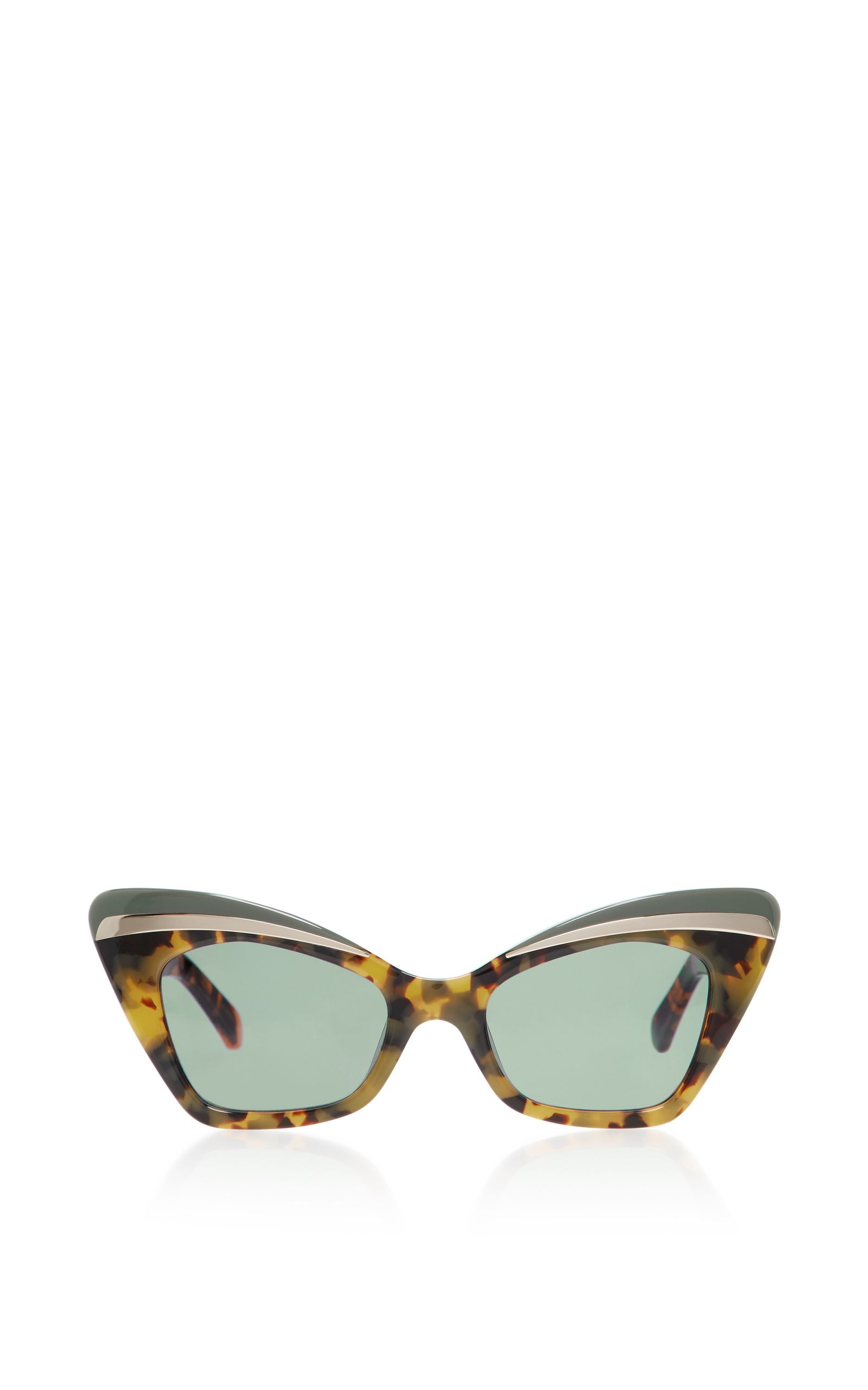 Babou Black Cat-Eye Acetate and Metal Sunglasses Karen Walker