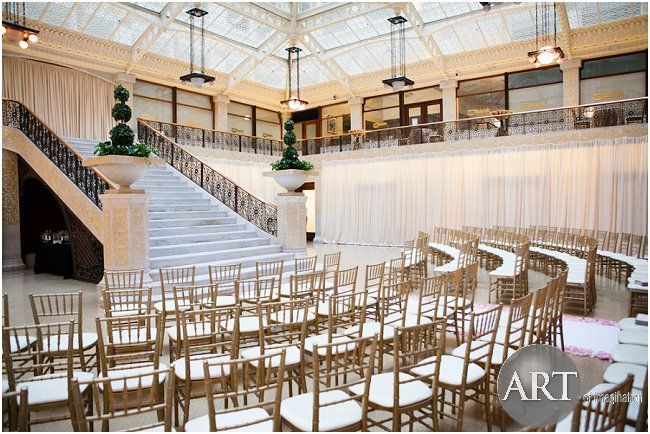 Best Staircase Ceremony At The Rookery Chicago Wedding 400 x 300