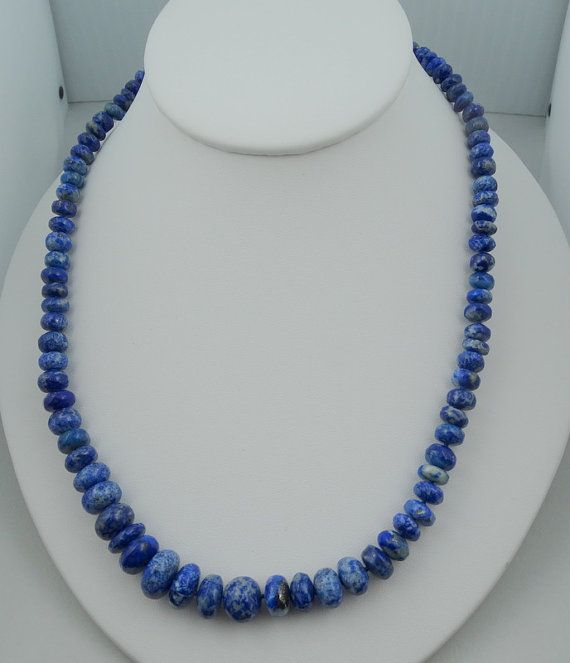 Hand Knotted 19 Strand Fine Afghanistan Lapis by rubylanejewelers
