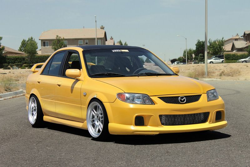 Mazda protege on enkei rpf1s favorite cars pinterest for Mazdaspeed 6 exterior mods