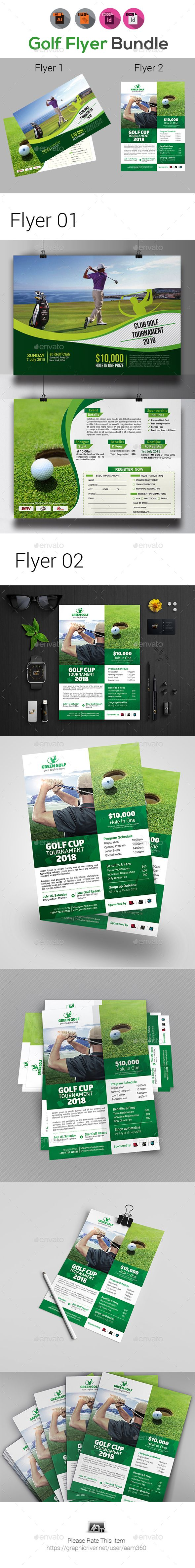 Golf Tournament Flyer Templates  Flyer Template Ai Illustrator