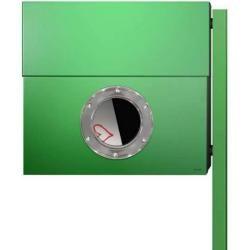 Photo of Radius Design Letterman Xxl Briefkasten grün (ral 6018) ohne Klingel mit Pfosten in Briefkastenfarbe