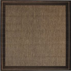 New Haven Square Brown Border Indoor Outdoor Woven Area Rug Common 7