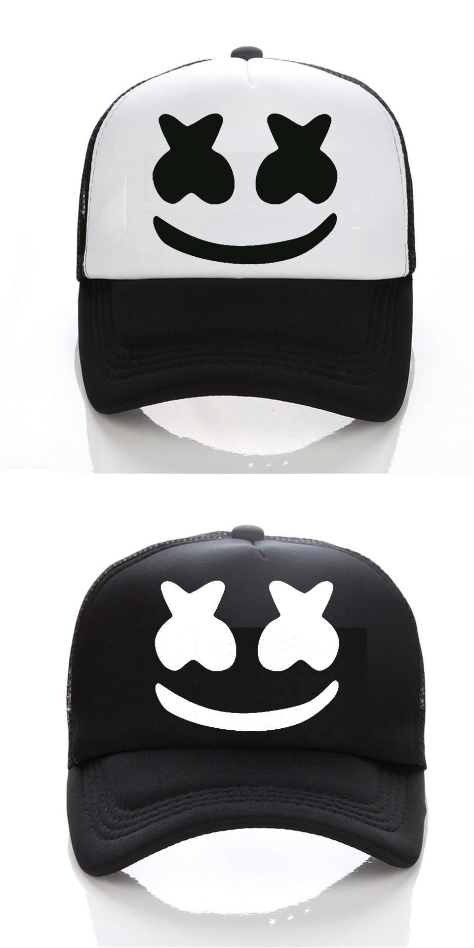 f3474a61349  Visit to Buy  New Arrived marshmello face men baseball cap boy casual  homme cap