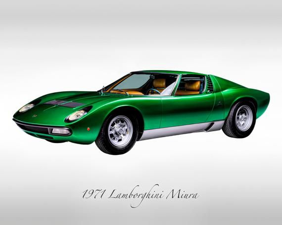 Classic Cars – 1971 Lamborghini Miura – Print