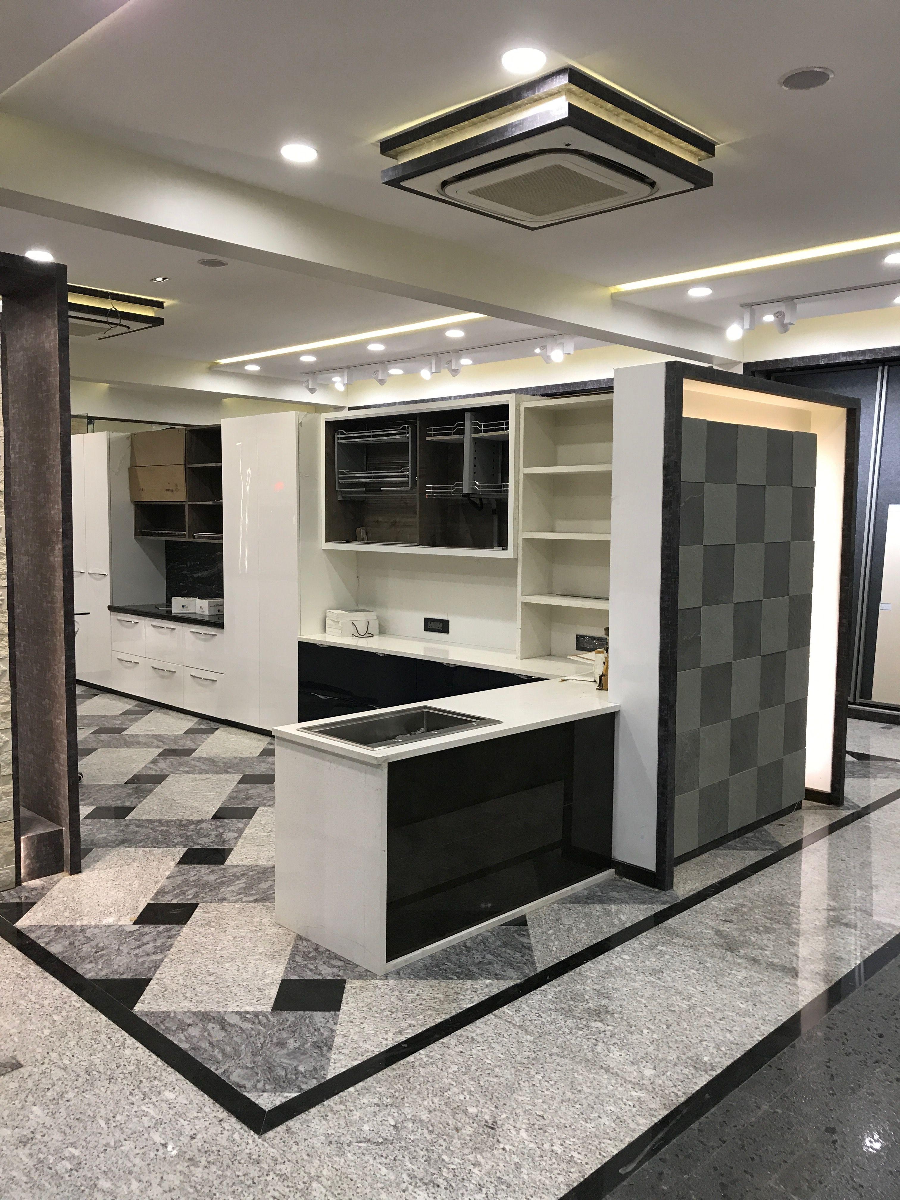 Granite Floor Stone Pattern Showroom Granite Flooring Floor Design Kitchen Wall Design