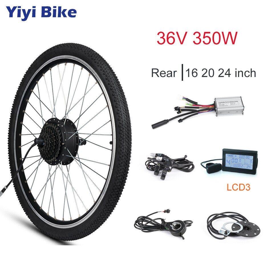 Motor Bike Eletrica 36v 350w Hub Motor E Bike Kit Electric Bike