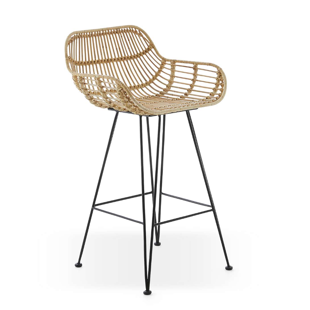Nirvana Bar Stool Natural Rattan Bar Chairs Wicker Bar Stools Rattan Bar Stools