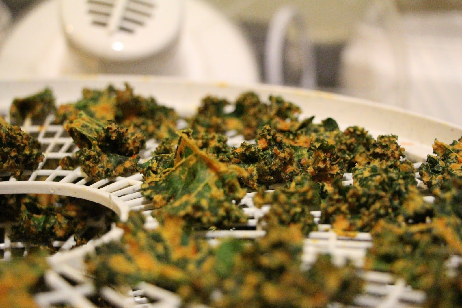 Spice and Simplify: Kale chips (oven or dehydrator)