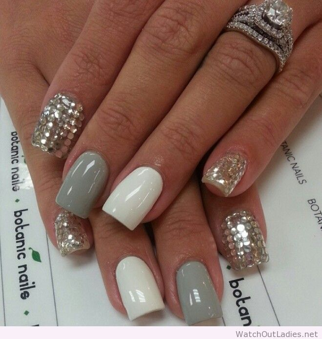 botanic nails gray white silver watchoutladiesnet
