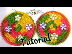 Tutorial Orecchini Uncinetto Multicolor Youtube Brincos