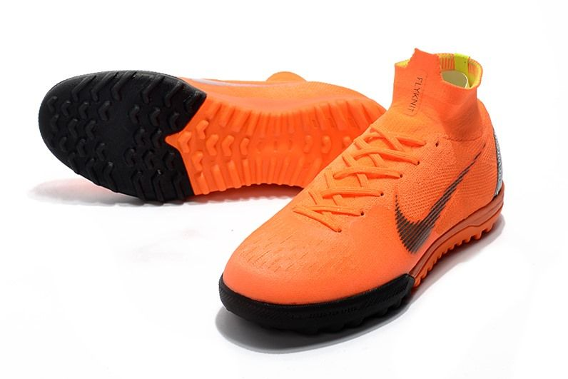 41c9afe0fa Nike MercurialX Superfly 360 Elite TF Turf Soccer Shoe Orange Black ...