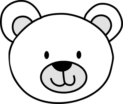 bear head coloring page best photos of polar bear face outline teddy bear face
