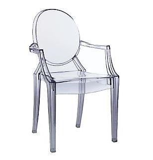 French Design Essentials Louis Ghost Chair Transparent Chair