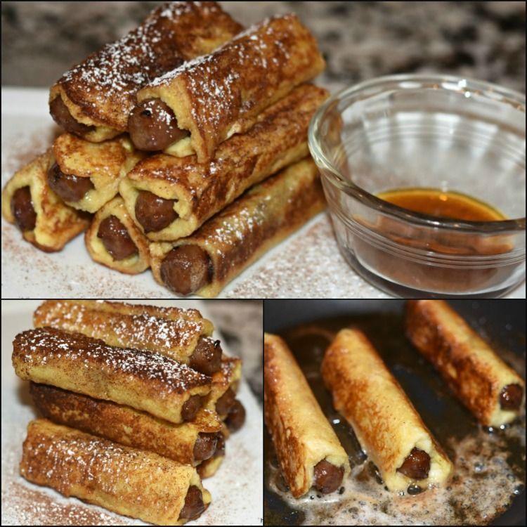 Sausage Stuffed French Toast Sticks