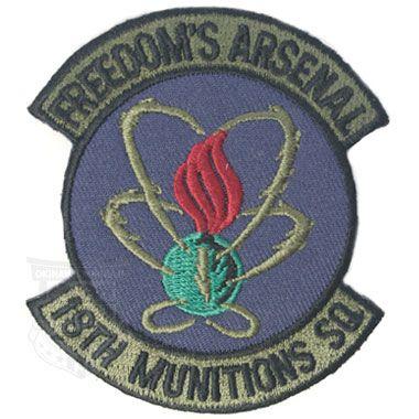 Freedoms Arsenal 18th Munitions Sq Patch 軍用実物の商品詳細 ミリタリーショップなら米軍放出品の専門店の沖縄ミリカジ 刺繍ワッペン 米軍 ミリタリー
