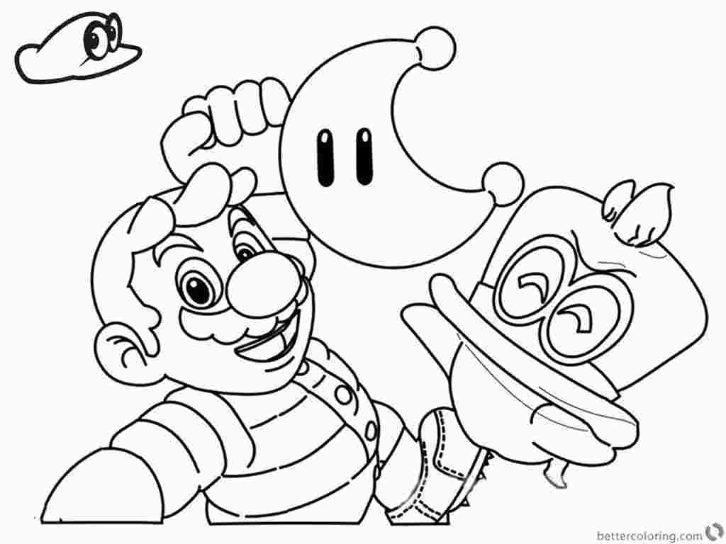Printable Mario Odyssey Coloring Pages Mario Coloring Pages Dinosaur Coloring Pages Christmas Coloring Pages