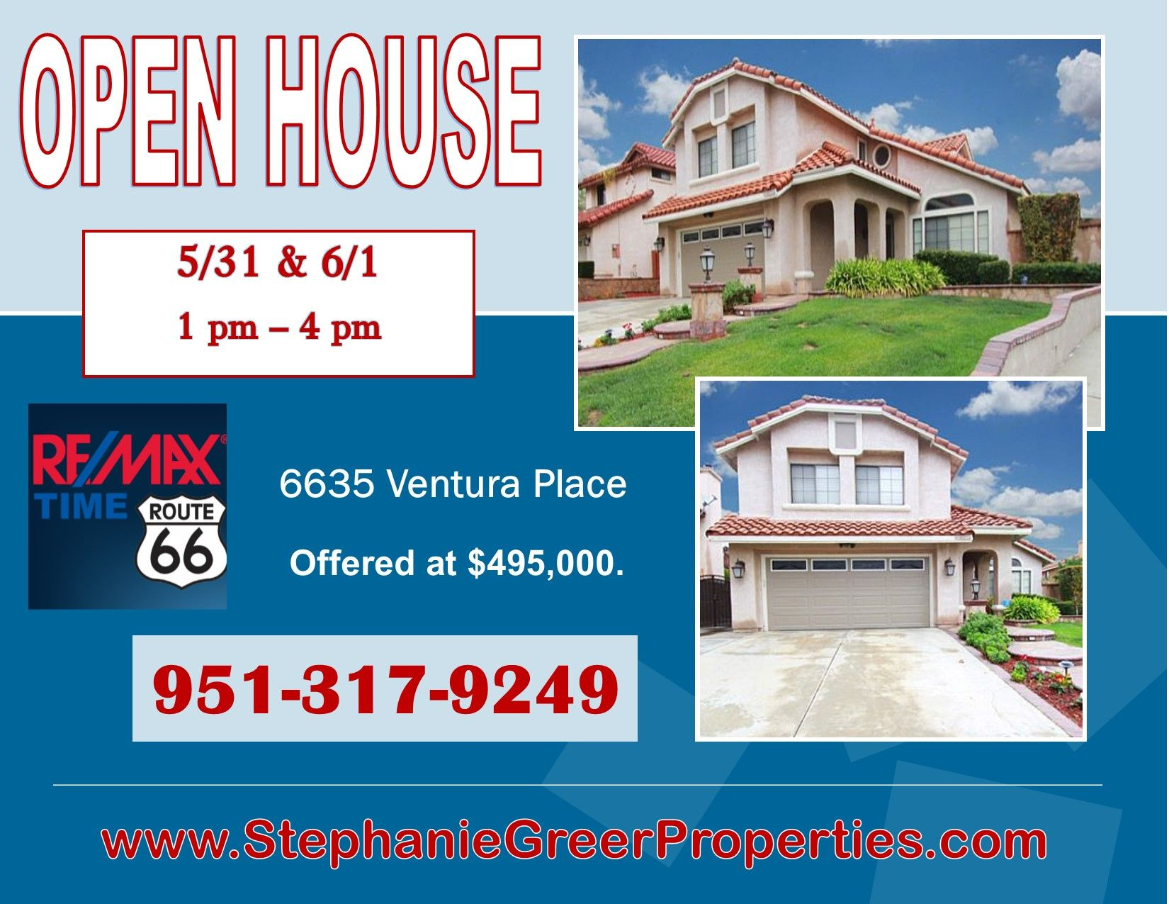 Open house online posts and post card advertising re max for Ad house
