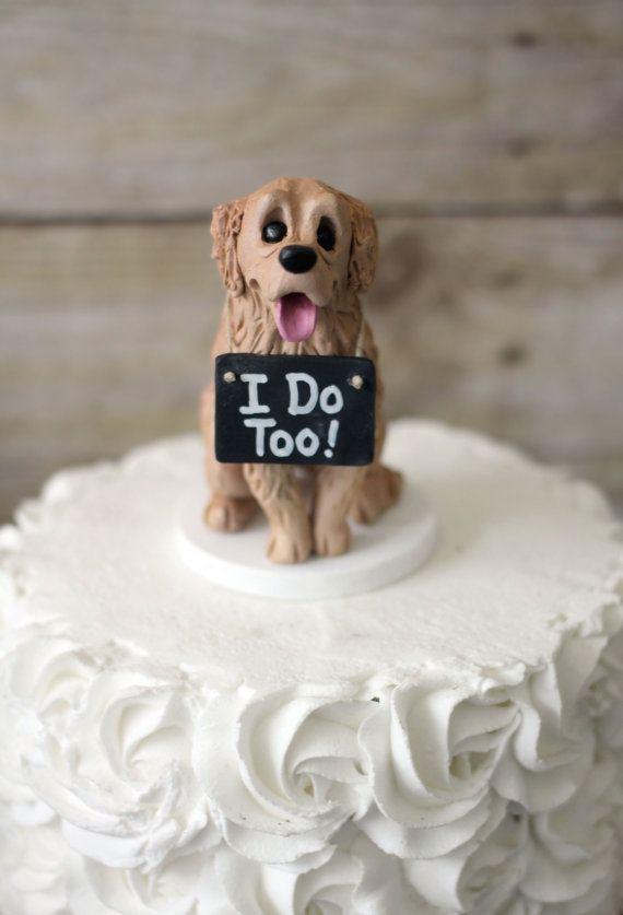 Golden Retriever Cake Topper Custom Dog Topper Made From Your Photos Dog Cake Topper Dog Cake Topper Wedding Golden Retriever Cake Topper