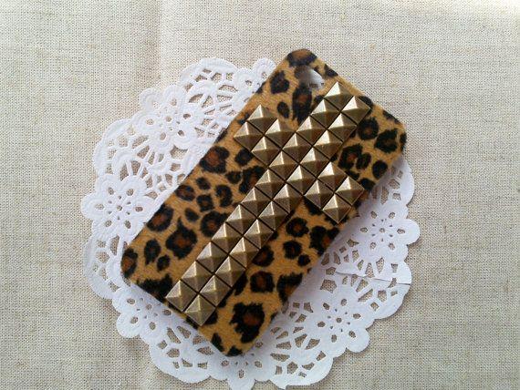 Bronze pyramid Studded Iphone 4 4S Black Hard CaseB7 by sangege521, $16.99
