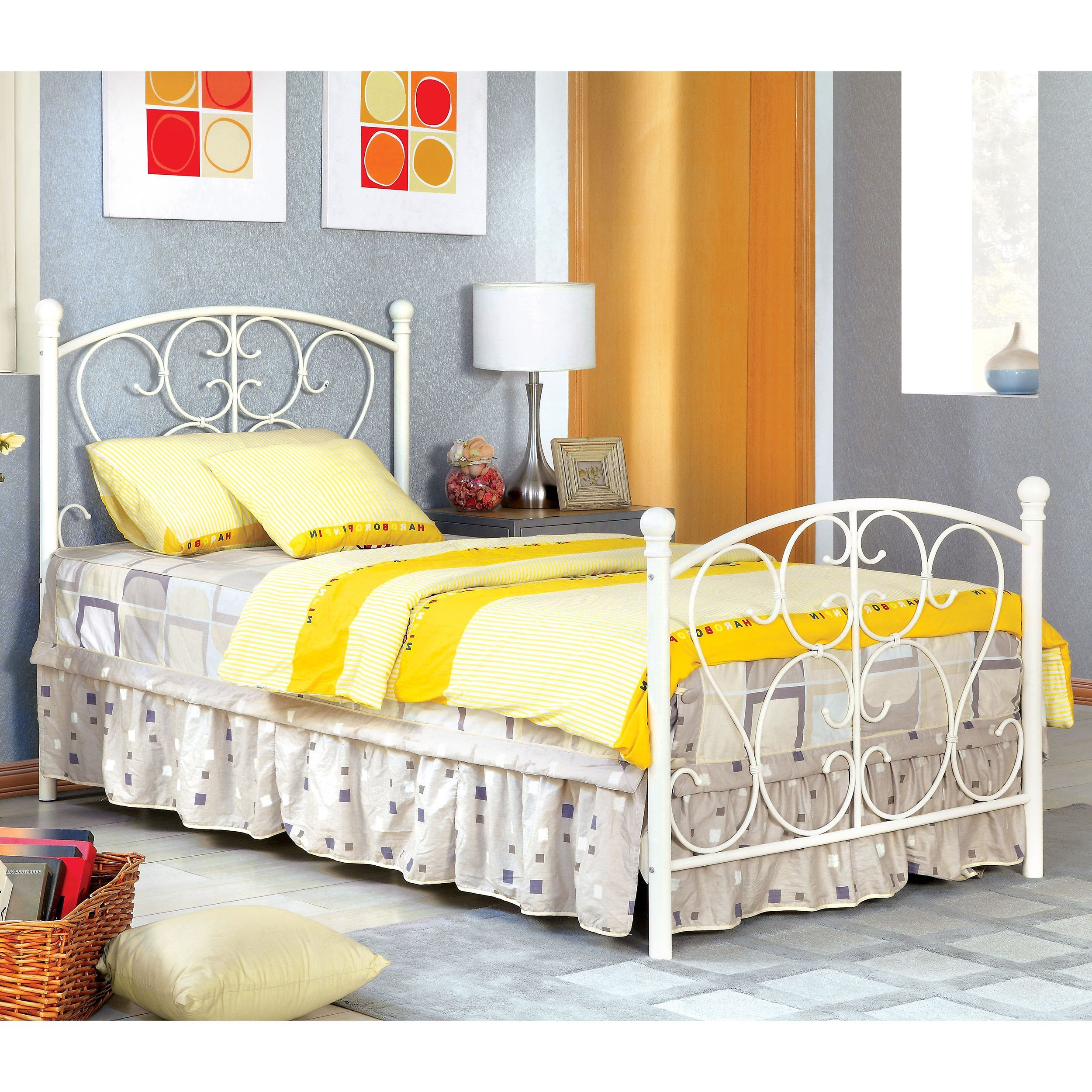 Charmingly youthful, this princess style twin bed offers swirls of ...
