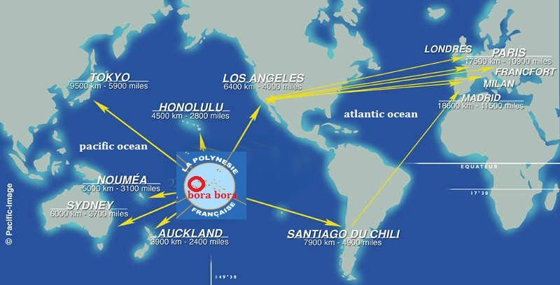 Bora Bora En El Mapa Bora Bora Es Un Territorio Insular Frances