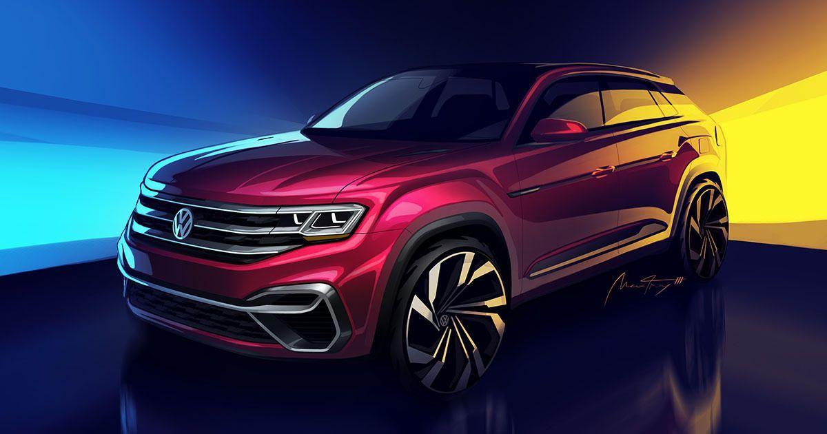 Volkswagen showing '5passenger Atlas' concept in New York