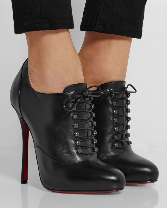 CHRISTIAN LOUBOUTIN Swiftinetta 120 Leather Ankle Boots | Buy ...