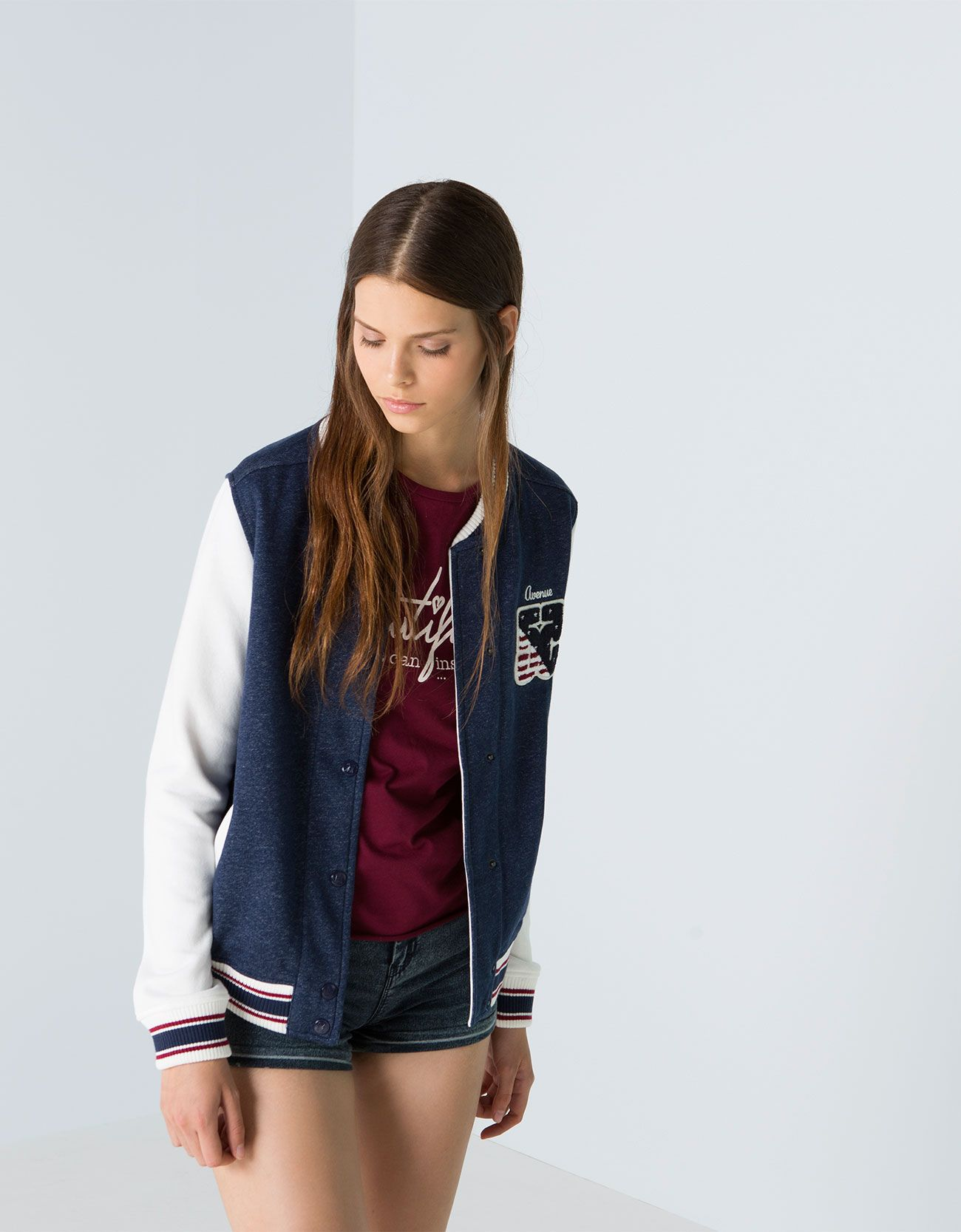 Bershka Serbia -BSK patch baseball jacket | bsk. | Pinterest ...