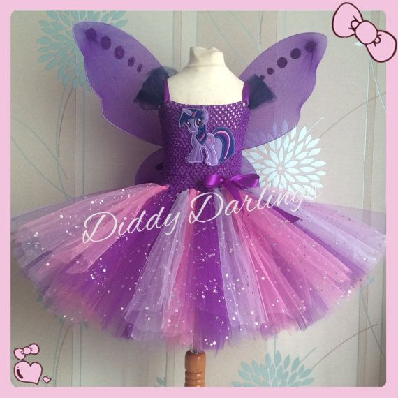 Purple Tutu Dress Handmade Twilight Sparkle Sparkly My Little Pony Inspired