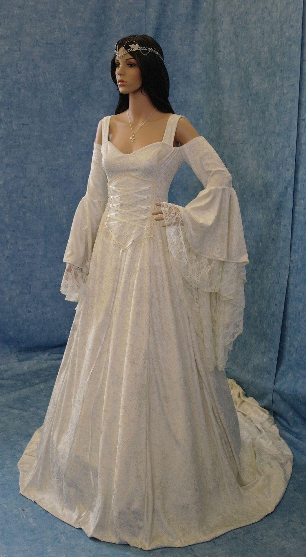 Renaissance Style Wedding Gown Celtic Wedding Dress Renaissance Wedding Dresses Medieval Wedding Dress