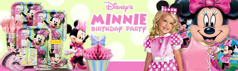 Minnie Mouse Party party supplies, decorations and invitations