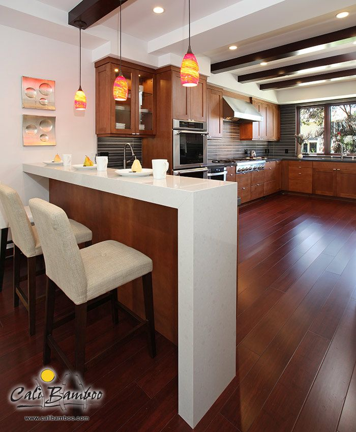 Red Cherry Wood Kitchen Cabinets: Cherry Red Bamboo Hardwood Flooring Sample In 2019