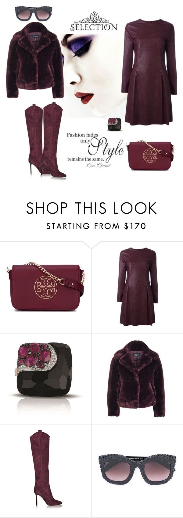 """""""The selection"""" by zabead ❤ liked on Polyvore featuring Tory Burch, MM6 Maison Margiela, Marco Moore, Topshop, Tamara Mellon, Chanel and Kuboraum"""