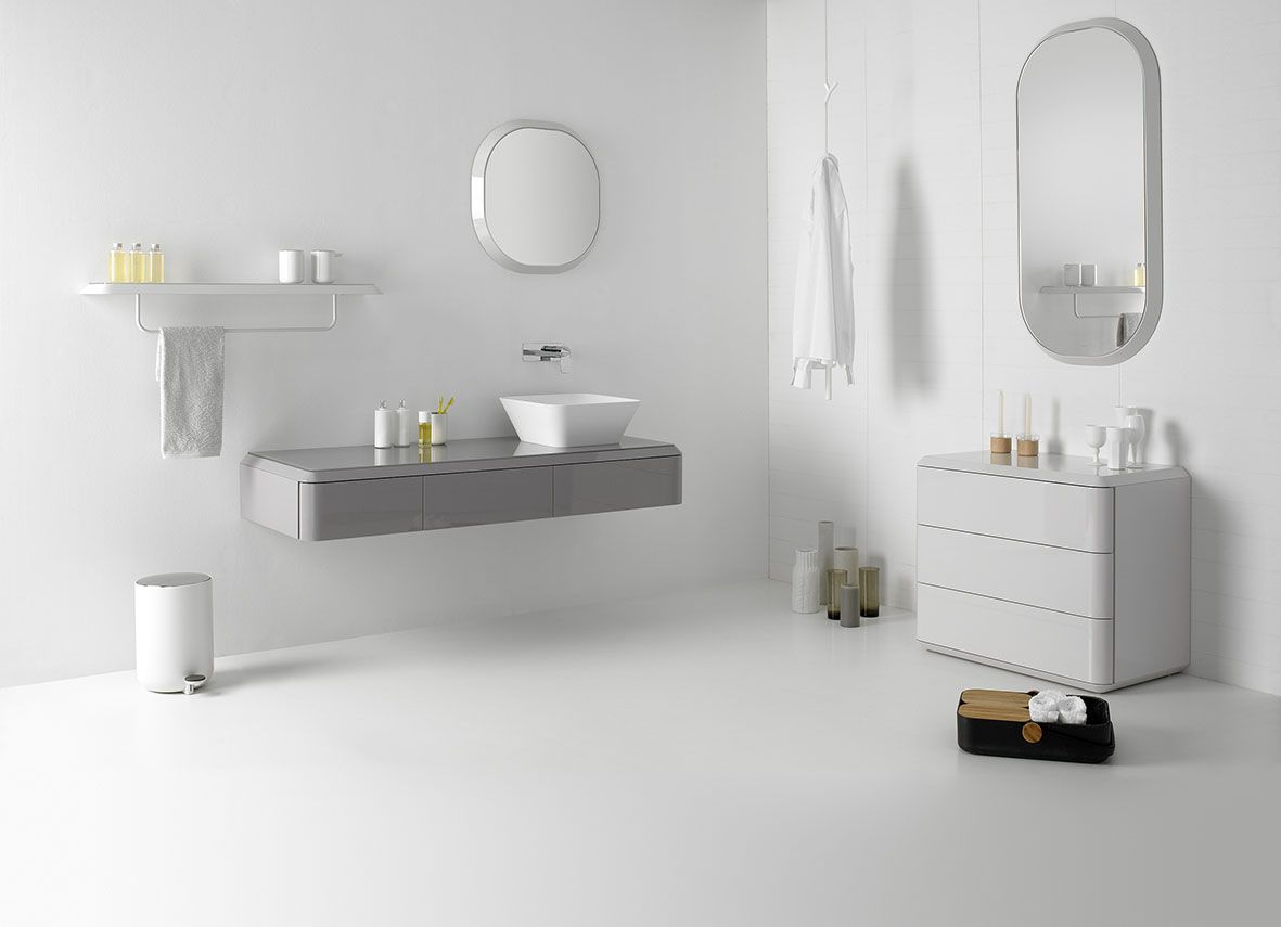 Fluent collection by Inbani. #bathroom #furniture #design (mit