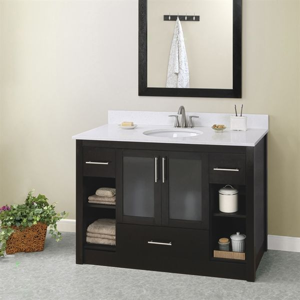 shop style selections 48 in x 21 in torylynn freestanding on lowes vanity id=61766