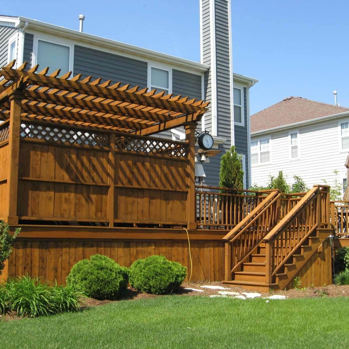 how to build a small pergola on a deck