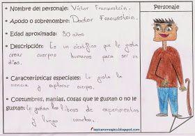 LAPICERO MÁGICO: Comprensión Lectora: Fichas de personajes