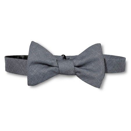 Men's Chambray Bow Tie - City of London - For that next extra special occasion.  Look sharp and impress others at your next event.